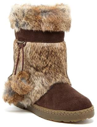 BearPaw Tama II Genuine Rabbit Fur & Genuine Sheepskin Boot