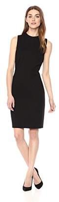 T Tahari Women's Paloma Sleeveless Ponte High Neck Sheath Dress