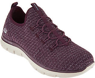 Skechers Multi Knit Slip-On Bungee Sneakers - Visions $54.98 thestylecure.com