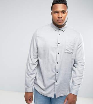 Asos Design DESIGN Plus regular fit marl twill shirt in grey