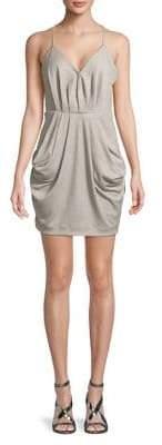 BCBGeneration Sleeveless Surplice Mini Dress