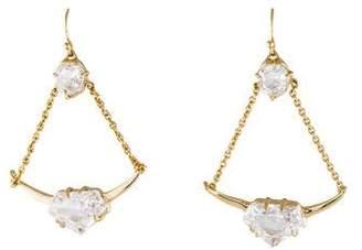 Alexis Bittar Suspended Cubic Zirconia Chain Drop Earrings