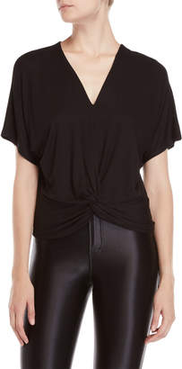 Buffalo David Bitton Oversized Twist Hem Top