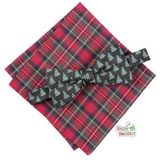 KNOTTY & NICE Christmas Tree Bow Tie 3-Piece Set