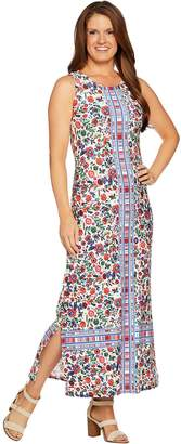 C. Wonder Regular Knit Engineered Floral Print Maxi Dress