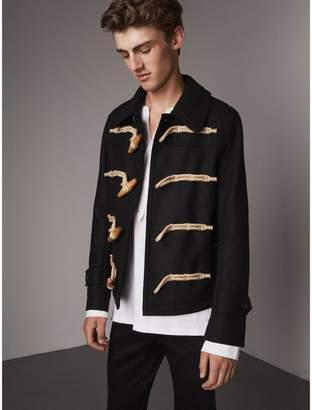 Burberry Wool Blend Duffle Jacket