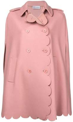 RED Valentino scalloped cape coat