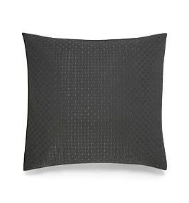 Calvin Klein Acacia Silver Stitched Diamond European Cushion 65 X 65 Cm