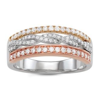 Vera Wang Simply Vera 14k Tri-Tone Gold 1/2 Carat T.W. Diamond Ring