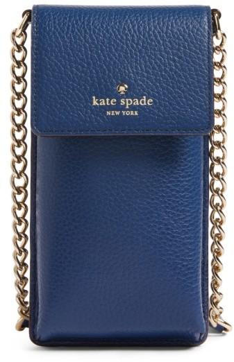 Kate Spade New York Leather Smartphone Crossbody Bag - Blue