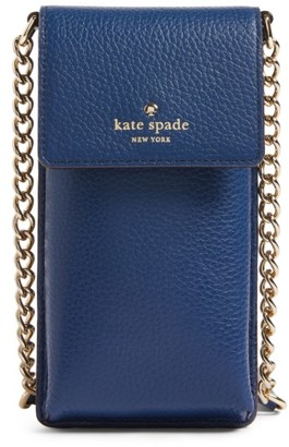 Kate Spade New York Leather Smartphone Crossbody Bag - Blue $128 thestylecure.com