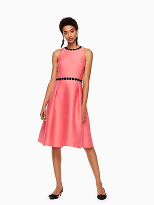 Kate Spade Floral lace trim mikado dress