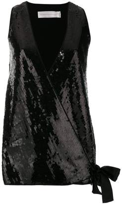 Victoria Beckham Victoria sequin embellished waistcoat