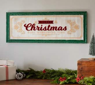 Pottery Barn Framed Merry Christmas Sign
