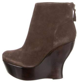 Alice + Olivia Platform Wedge Ankle Boots
