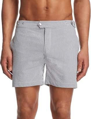 Solid & Striped Kennedy Seersucker Swim Trunks