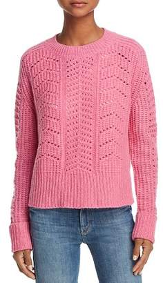Aqua Chunky Pointelle Cable Cashmere Sweater - 100% Exclusive