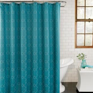 Excell Skylar Fabric Shower Curtain