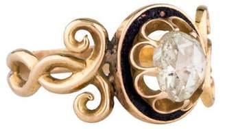 Ring 14K Rose Cut Diamond