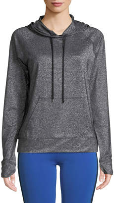 Nylora Jarvis Hooded Metallic Pullover Sweatshirt