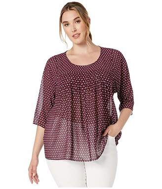 MICHAEL Michael Kors Size Diamond Geo Flowy Top