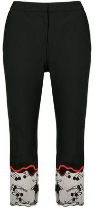 Versus embellished cropped trousers