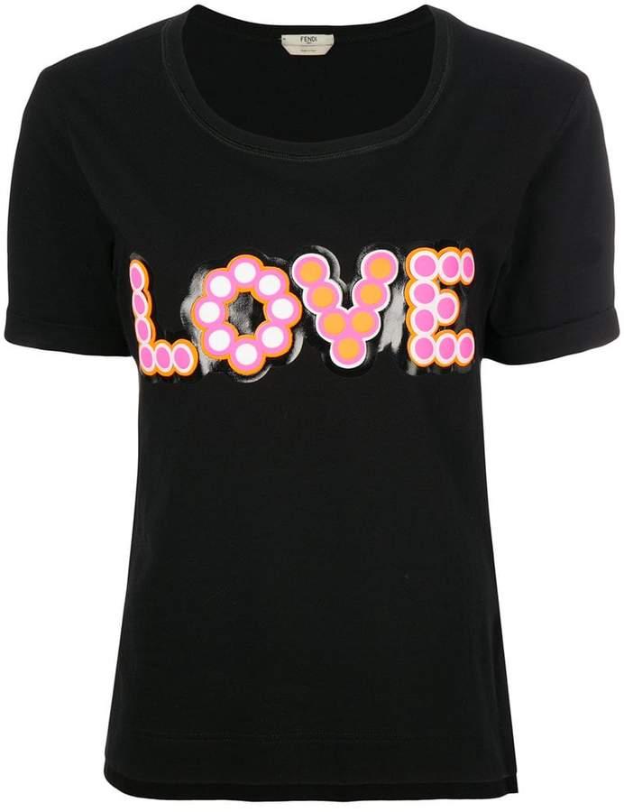 Love-appliqué T-shirt