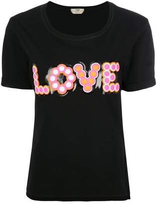 Fendi Love-appliqué T-shirt