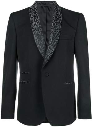 Stella McCartney print tuxedo jacket