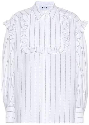 MSGM Embroidered cotton shirt