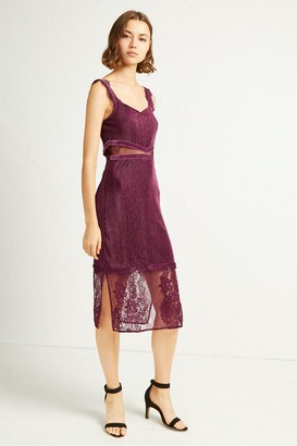 French Connection Sarelle Ottoman Velvet Jersey Strappy Dress