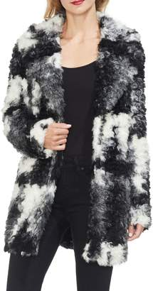 Vince Camuto Marled Shaggy Faux Fur Jacket