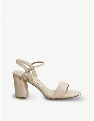 2b910ee39b57 Office Modesty two-part heeled sandals
