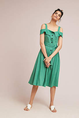 Adelyn Rae Culebra Open-Shoulder Shirtdress