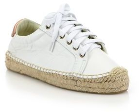 Soludos Leather Platform Tennis Sneakerdrille $159 thestylecure.com