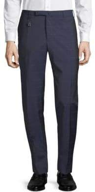 Incotex Windowpane Wool Pants