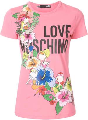 Love Moschino front logo T-shirt