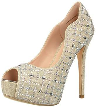 DREAM PAIRS Women's Swan-25-Shine Pump