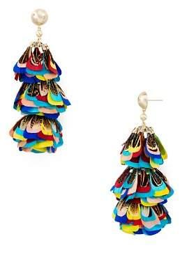 Kendra Scott Lenni Multicolor Feather Statement Earrings