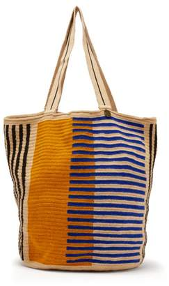 Guanabana - Woven Crotchet Bag - Mens - Navy Multi