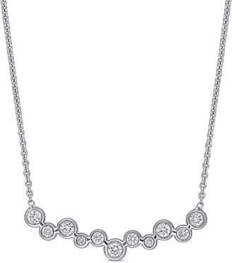 Diamond Select Cuts 18K 0.33 Ct. Tw. Diamond Bar Necklace