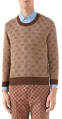 Gucci Men's GG Jacquard Knit Sweater