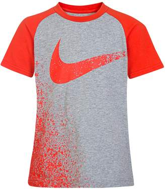Nike Boys 4-7 Chalk Swoosh Graphic Tee