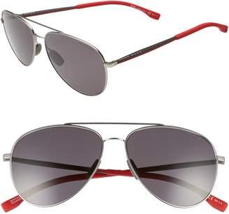 BOSS 59mm Aviator Sunglasses