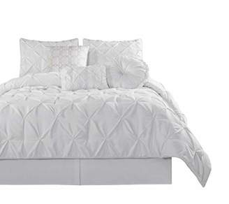 Chezmoi Collection Sydney 7 Piece Pintuck Comforter Set