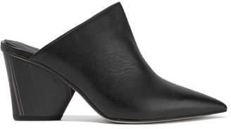 Paul Andrew Ester Leather Mules - Black