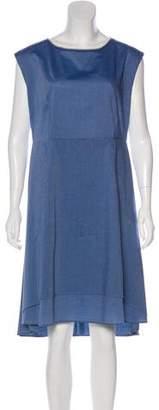 Fabiana Filippi Scoop Neck Midi Dress
