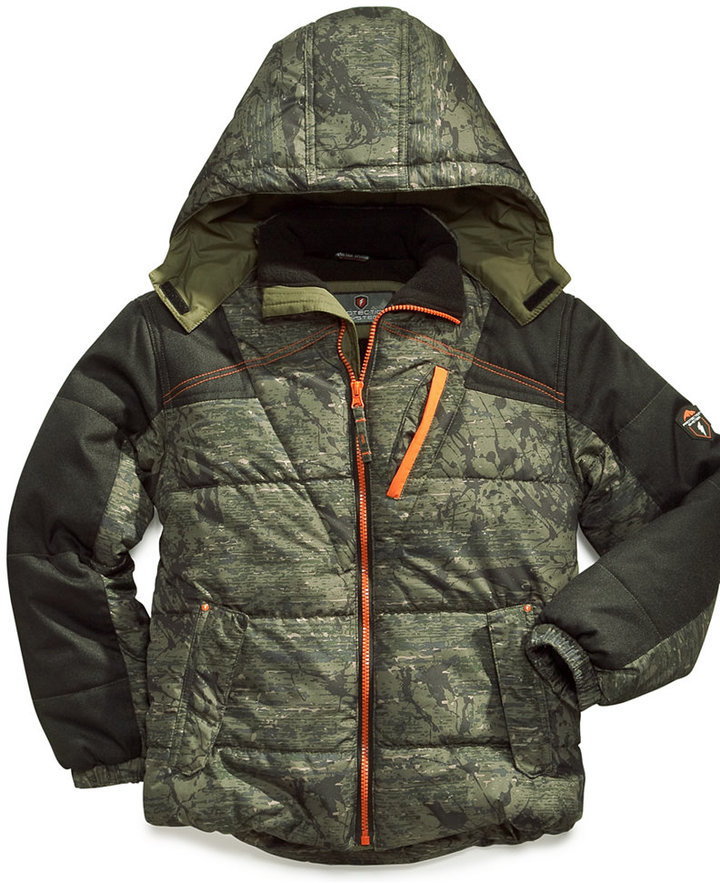 Hawke & Co Protection System Kids Jacket, Boys Printed Puffer Coat