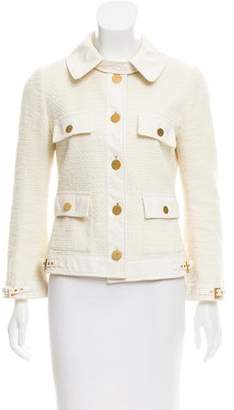 Dolce & Gabbana Woven Leather-Trimmed Jacket