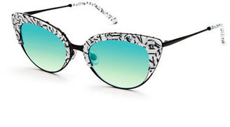 KREWE Josephine Mirrored Cat-Eye Sunglasses $295 thestylecure.com